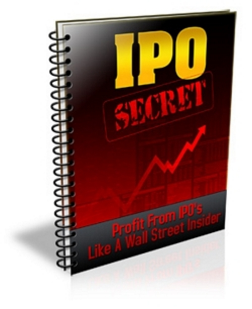 Product picture IPO Secrets - Profit from IPO like Wall Street insider
